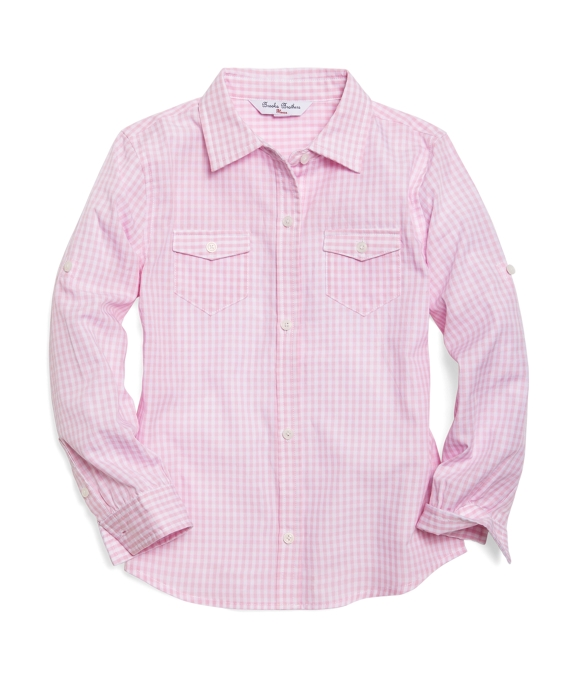 Gingham Camp Shirt Light Pink