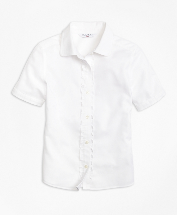 Non-Iron Short-Sleeve Oxford White