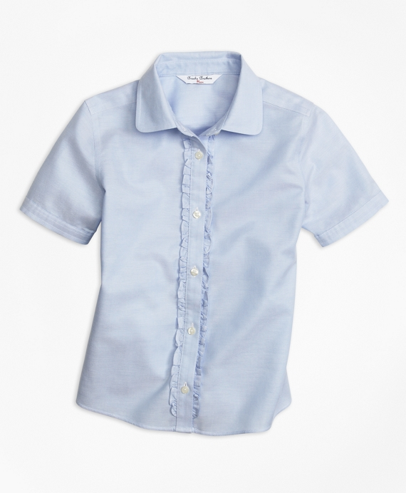 Non-Iron Short-Sleeve Oxford Light Blue