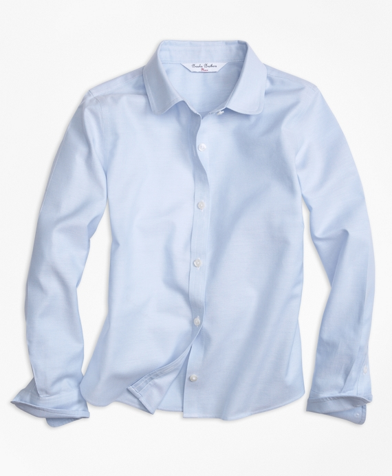 Non-Iron Long-Sleeve Oxford Light Blue