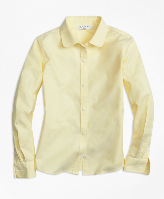 Non-Iron Long-Sleeve Oxford Yellow