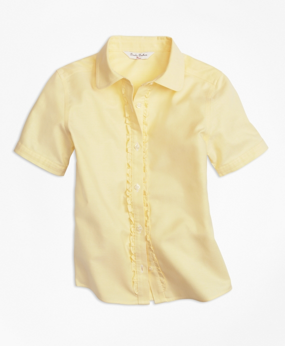 Non-Iron Short-Sleeve Oxford Yellow