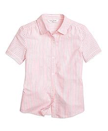 Cotton Oxford Stripe Blouse