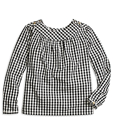 Cotton Gingham Blouse