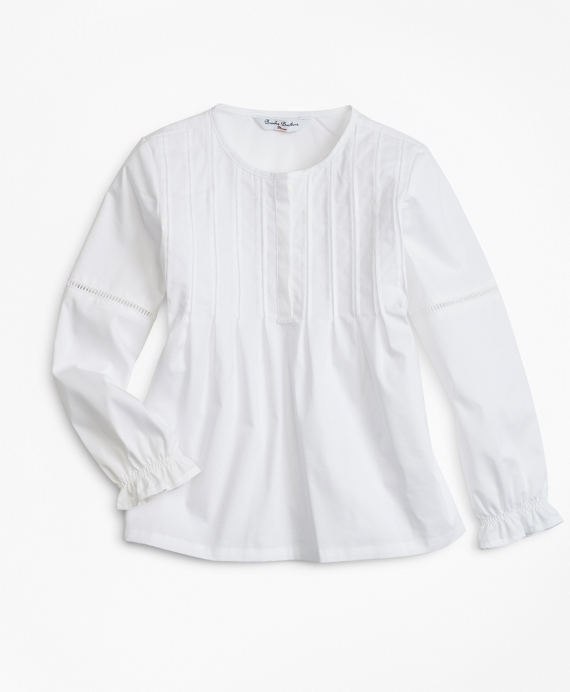Cotton Poplin Blouse White