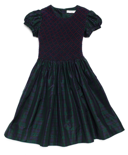 Buy Blackwatch Tartan Smocked Taffeta Dress, see details about this diamond and more