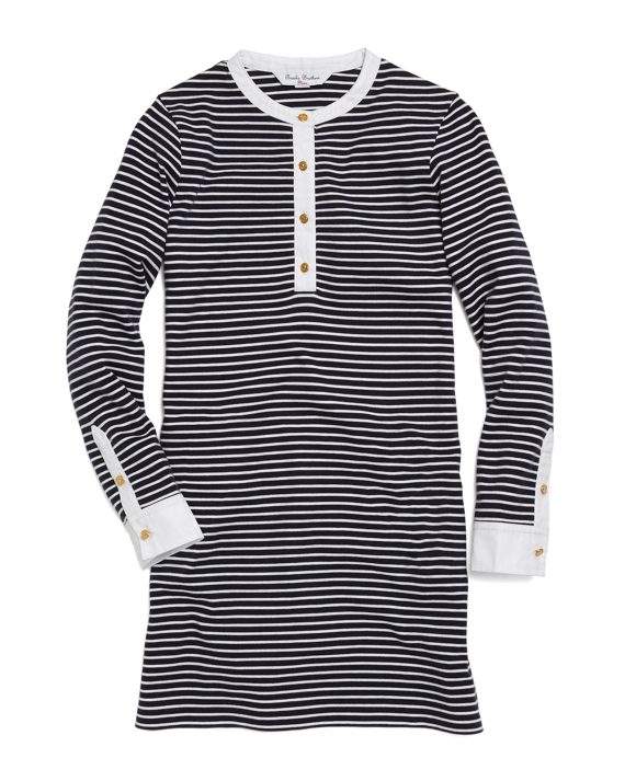 Striped Dress Navy-White