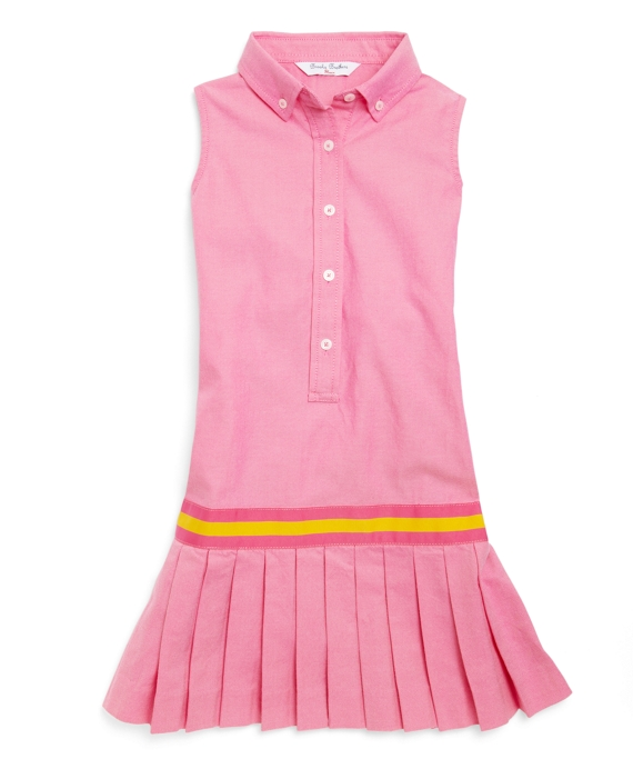 Washed Oxford Shirt Dress Pink