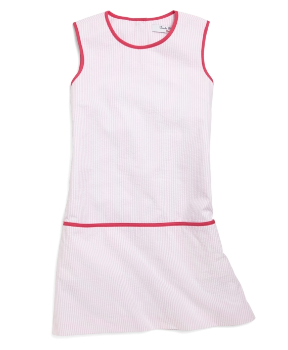 Sleeveless Seersucker Dress Light Pink