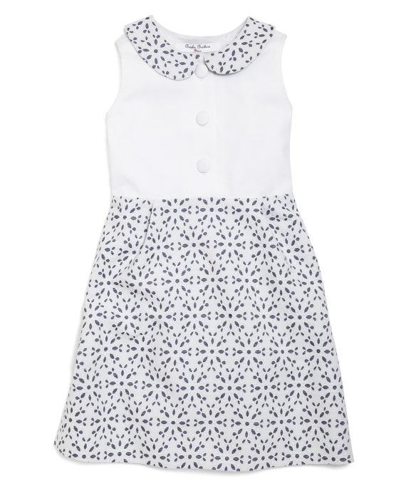 Sleeveless Eyelet Dress White
