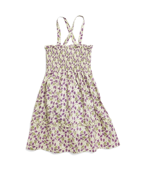 Smocked Mini Flower Dress Purple