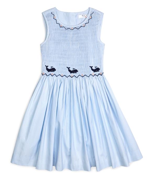 Girls&-39- Sleeveless Smocked Seersucker Dress