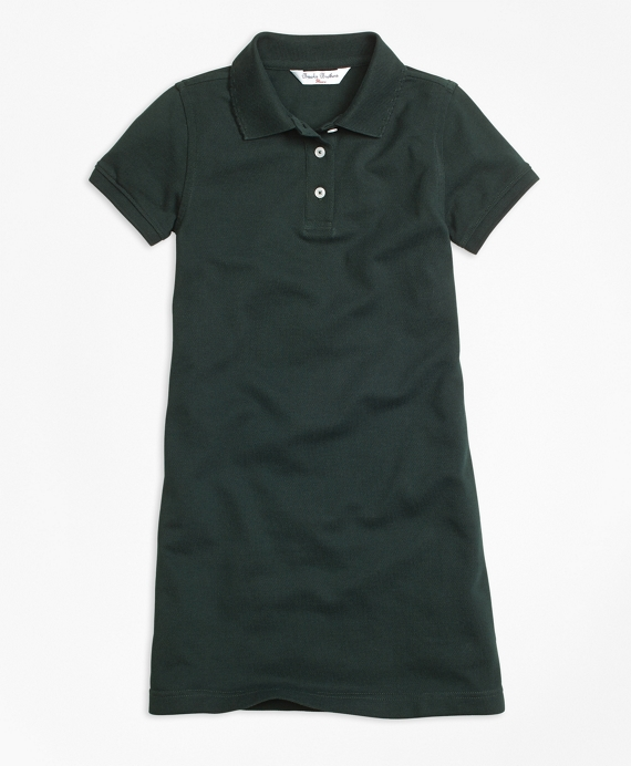Short-Sleeve Polo Dress Green