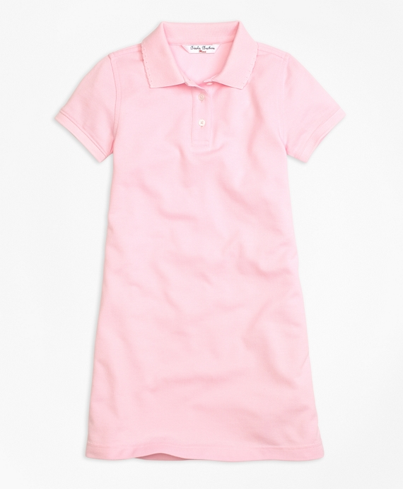 Short-Sleeve Polo Dress Light Pink
