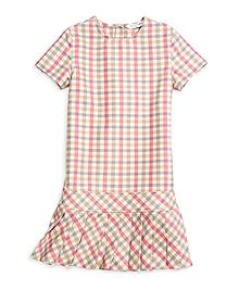 Cotton Pleated Skirt Dress