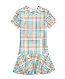 Short-Sleeve Madras Dress