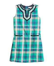 Cotton Madras Shift Dress