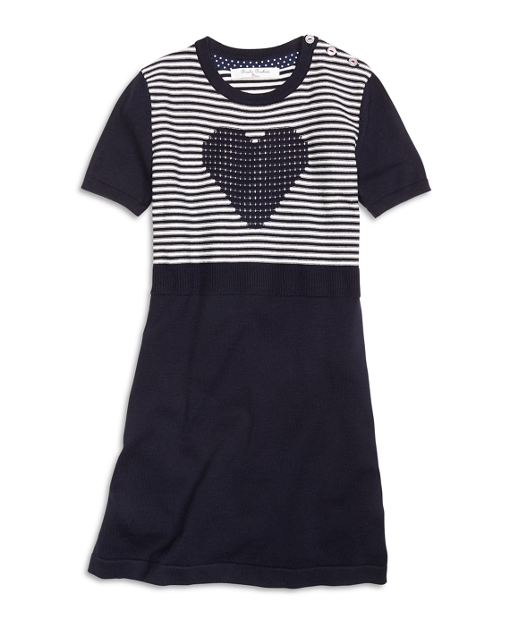 Short-Sleeve Cotton Heart Dress