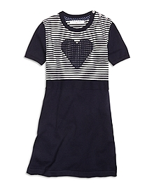 Short-Sleeve Cotton Heart Dress