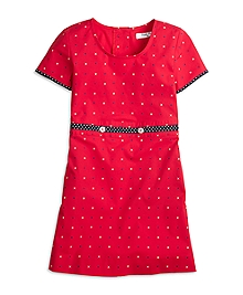 Short-Sleeve Cotton XO Dress