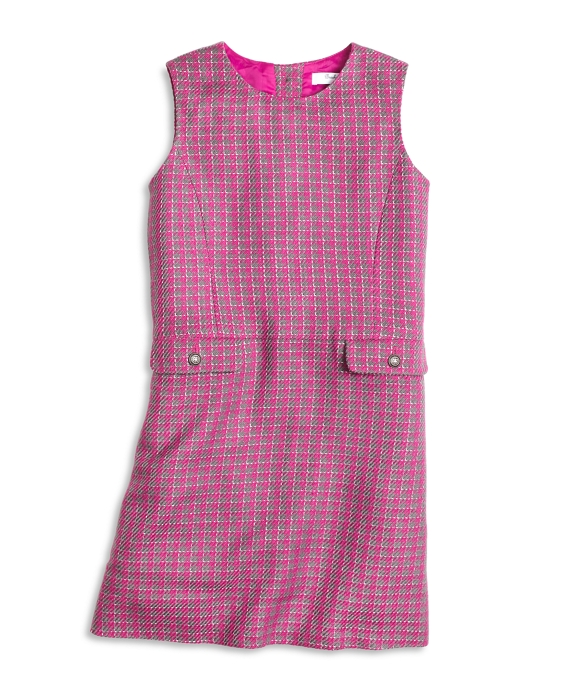 Houndstooth Dress Pink-Grey