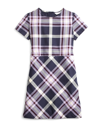 Short-Sleeve Tartan Dress