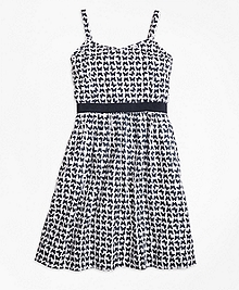 Cotton Butterfly Print Sleeveless Dress
