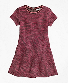Cotton Stretch Boucle Dress
