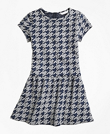 Jacquard Houndstooth Dress
