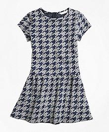 Jacquard Houndstooth Dress