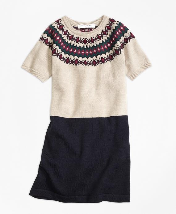 Merino Wool Fair Isle Sweater Dress - Brooks Brothers