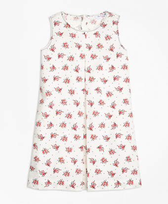 Floral Printed Cotton Stretch Dress