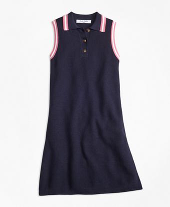 Cotton Polo Sweater Dress