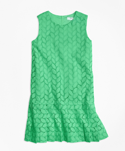 Sleeveless Cotton Eyelet Dress