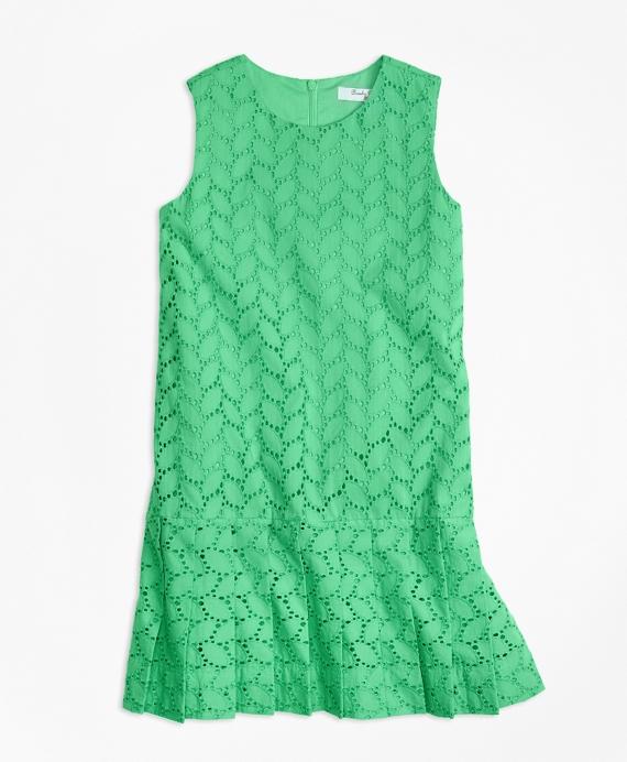 Vintage Style Children's Clothing: Girls, Boys, Baby, Toddler Sleeveless Cotton Eyelet Dress $95.00 AT vintagedancer.com