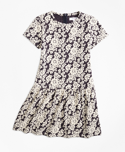 Knit Floral Jacquard Dress
