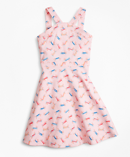 Cotton Tossed Candy Print Dress