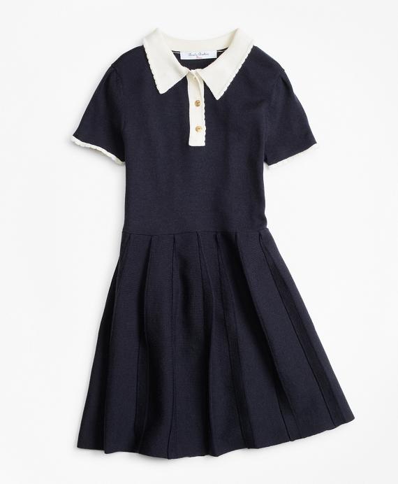 Merino Wool-Blend Sweater Dress Navy