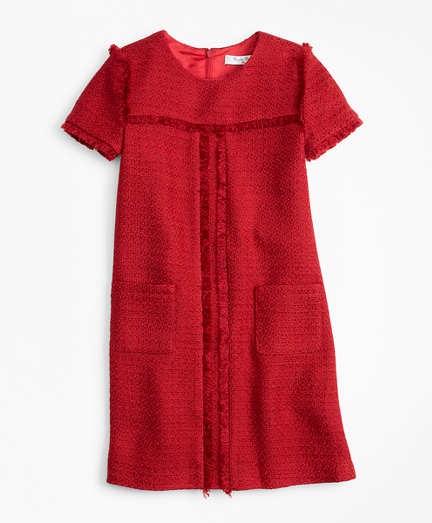 Short-Sleeve Boucle Dress