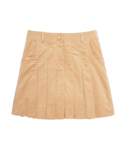 Corduroy Pleated Skirt