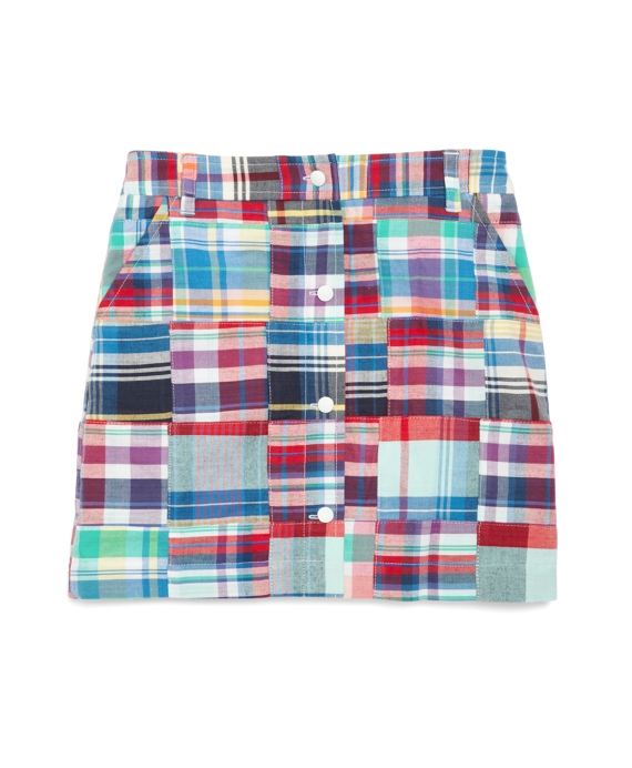 Patchwork Madras Skirt Multi