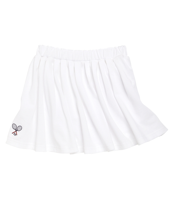 Pique Tennis Skirt White