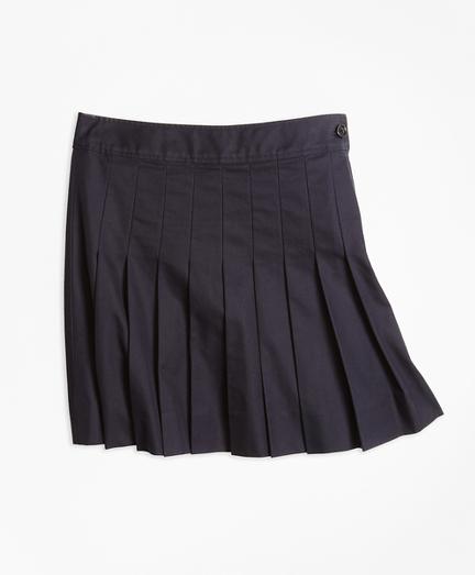 Pleated Chino Skirt