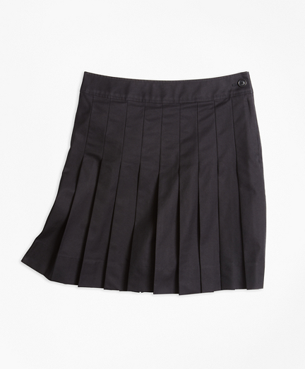 Pleated Chino Skirt