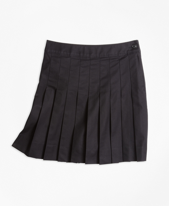 Pleated Chino Skirt Black