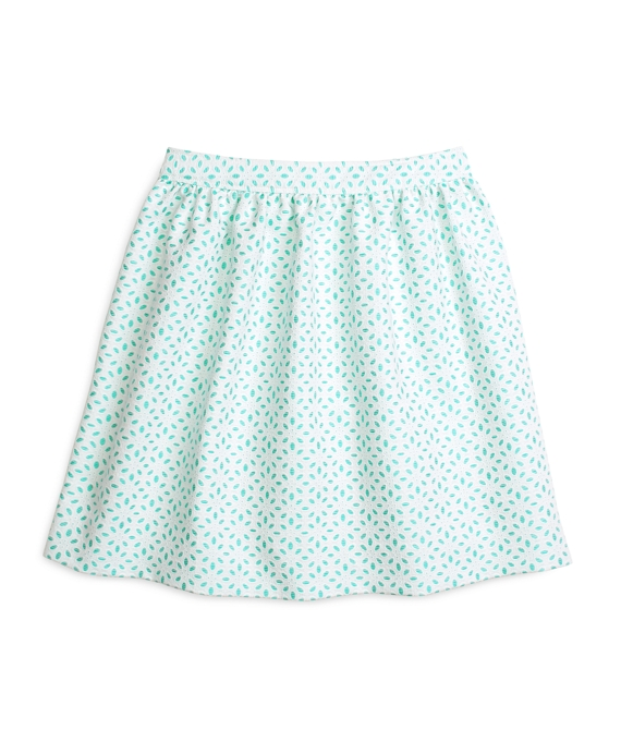 Cotton Eyelet Full Skirt Turquoise