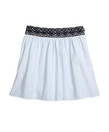Cotton Seersucker Full Skirt