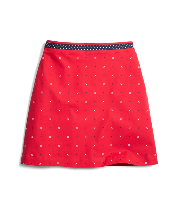 Cotton A-Line XO Skirt Red