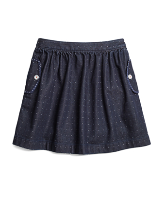 Denim Dot Skirt