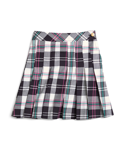 Pleated Tartan Skirt